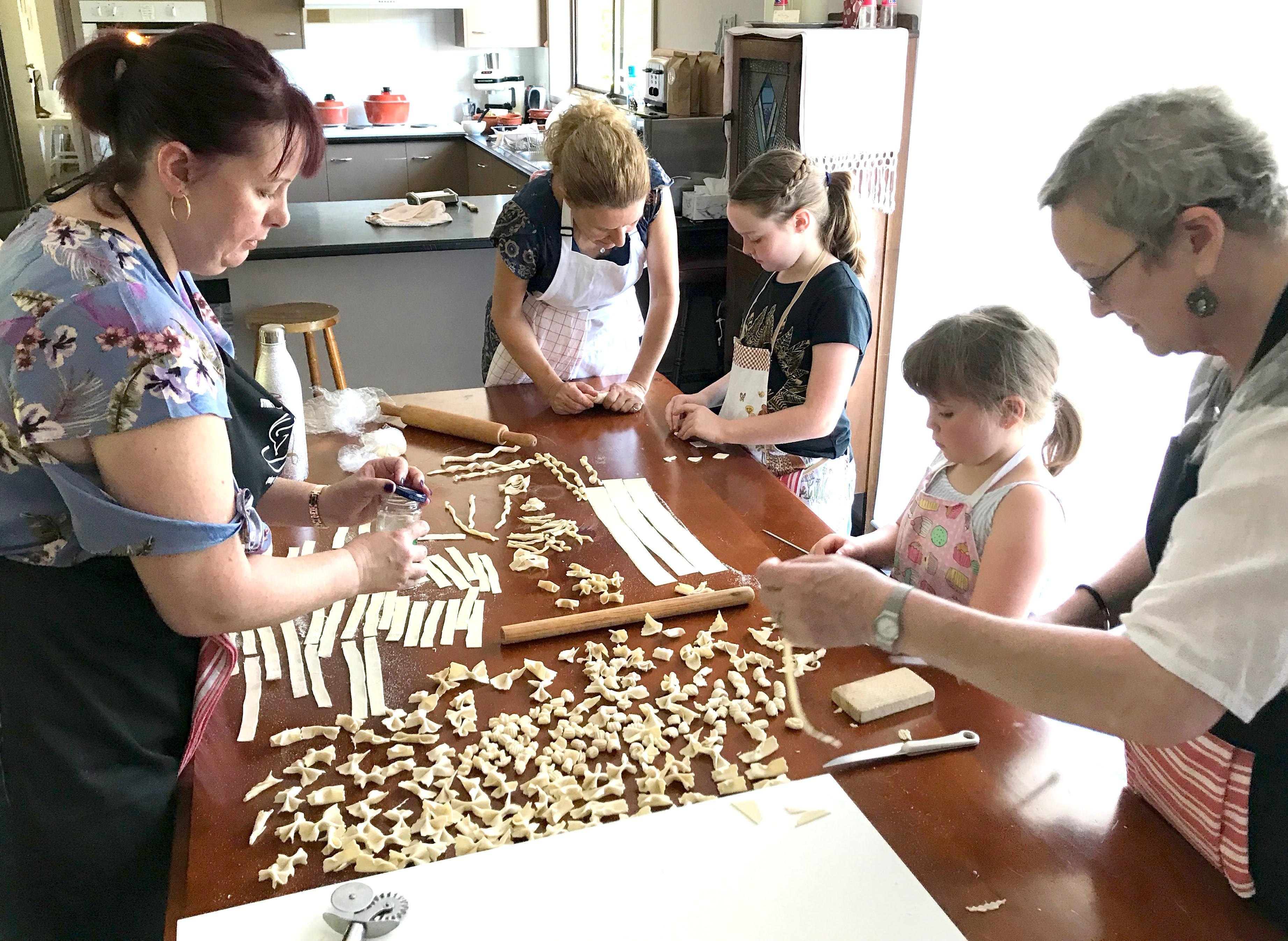Kids Pasta Making Class - hands on fun at your house - Accommodation Whitsundays