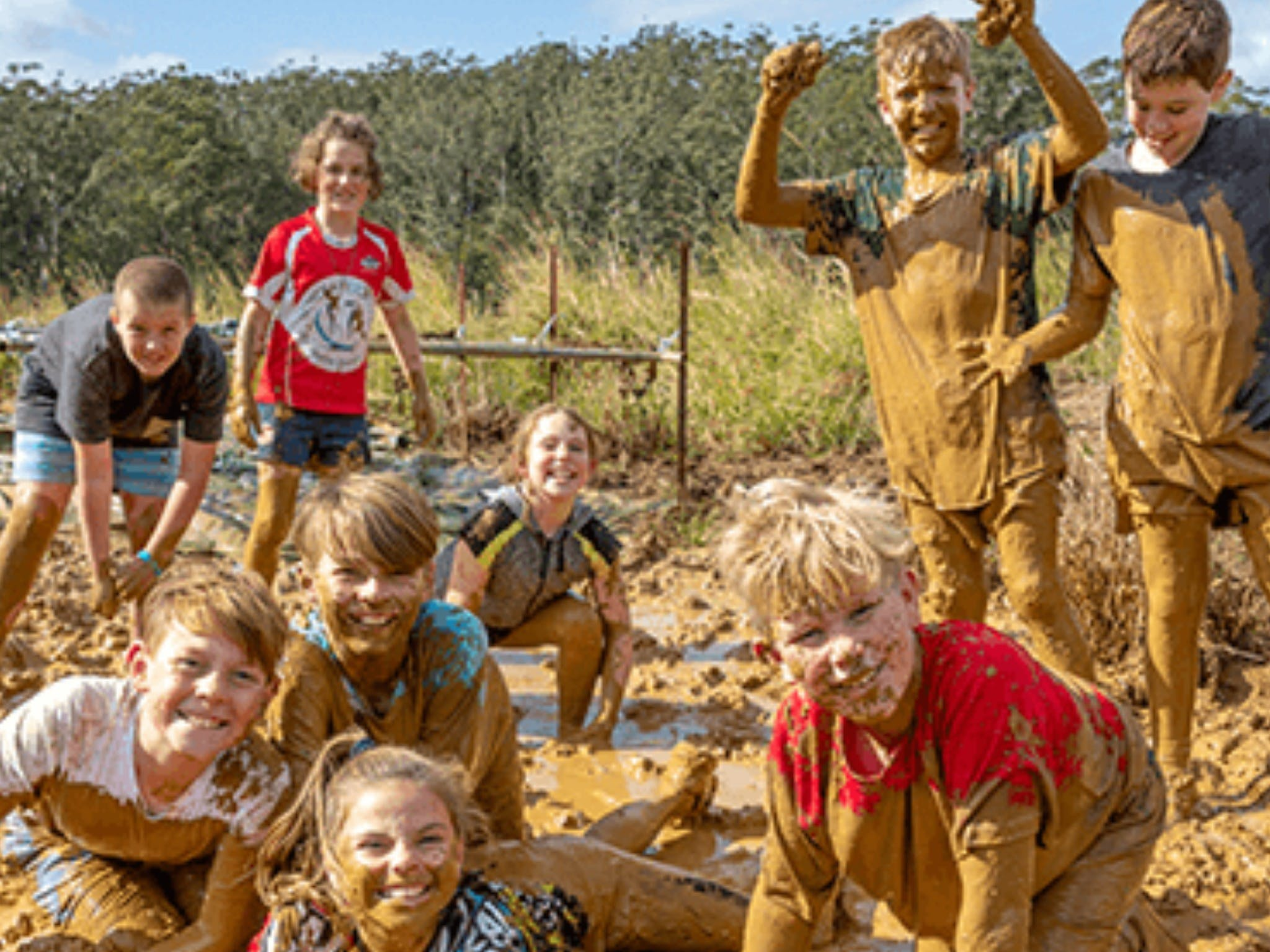 Mini Muddies Obstacle Challenge at Bunnamagoo Estate - Accommodation Whitsundays