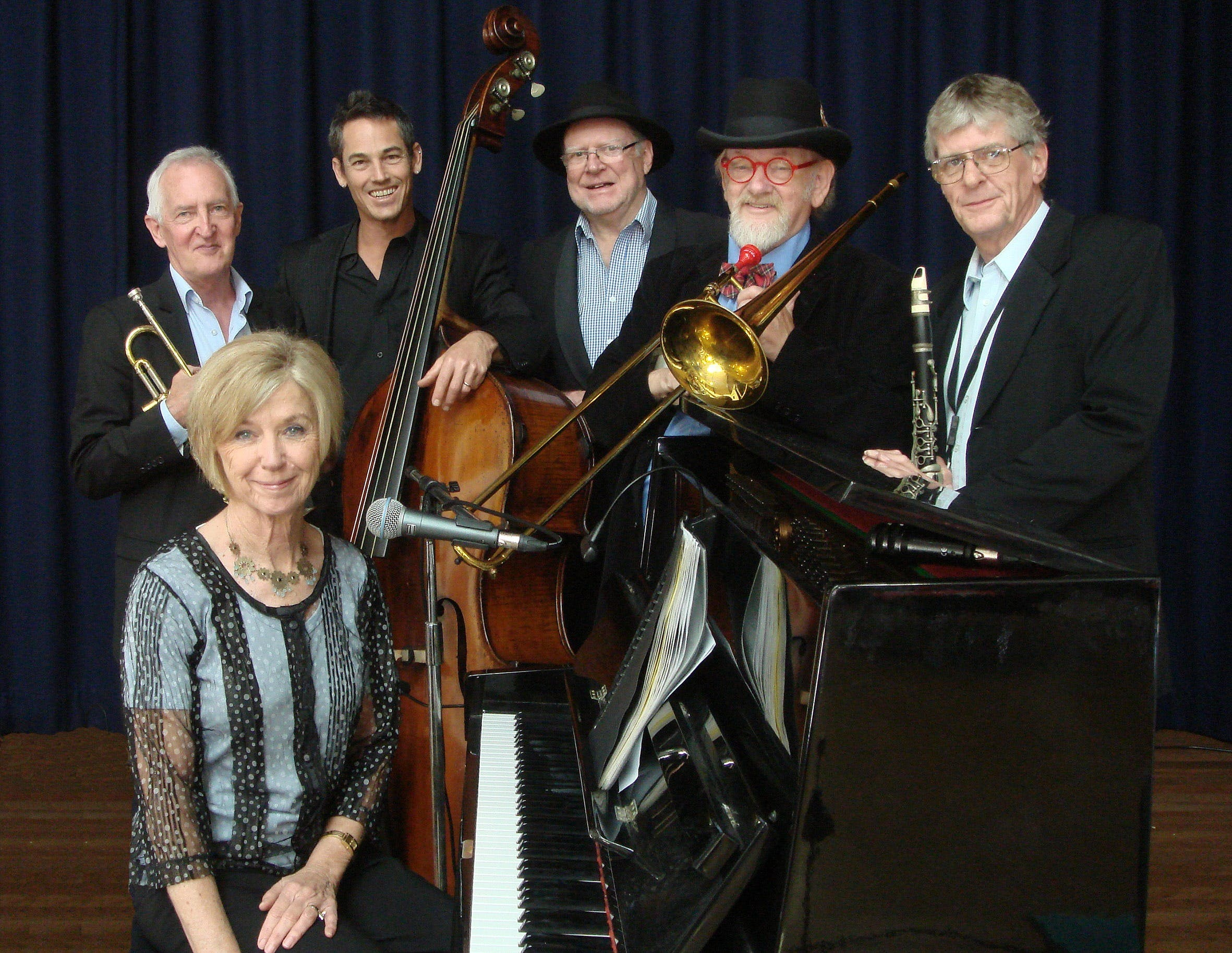 The Caxton Street Jazz Band in the Swigmore Hall at Robert Channon Wines - Accommodation Whitsundays