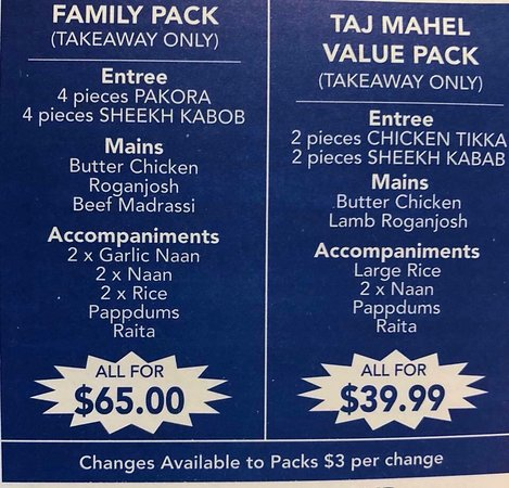 Taj Mahal Indian Restaurant - Accommodation Whitsundays